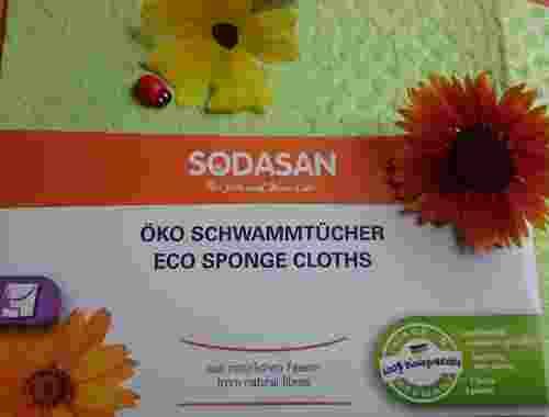 2 St. Öko Schwammtücher aus natürlichen Fasern von Sodasan