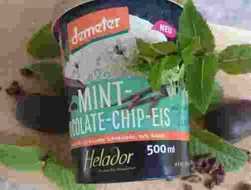 500ml Mint Chocolate Chip Eis 70% Kakao von Helador