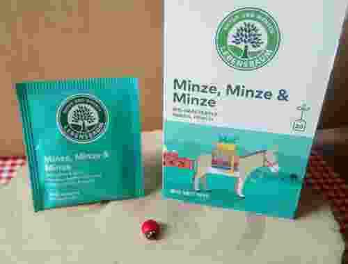 Bio Kräutertee Minze, Minze & Minze, 20 Teebeutel von Lebensbaum minzig frisch