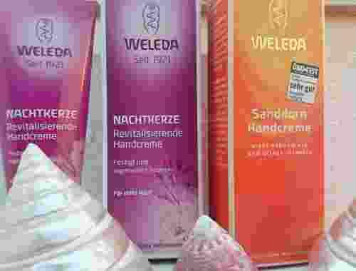 Revitalisierende Handcreme von Weleda in den Sorten Nachtkerze und Sanddorn (3)