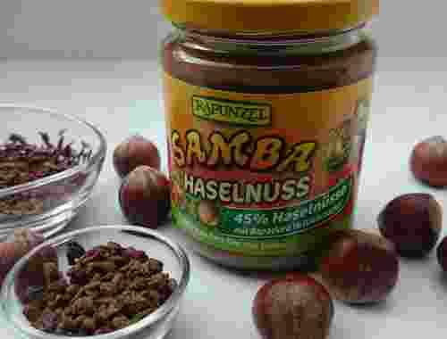 Samba Haselnuss Schokocreme von Rapunzel 45% Haselnüsse Vollrohrzucker