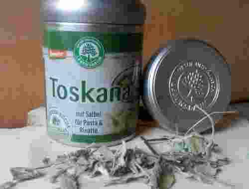 Toskana Würzmischung mit Salbei von Lebensbaum für Pasta und Risotto demeter zertifiziert