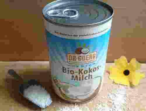 Bio Kokosmilch mit 3 erntefrischen Kokosnüssen in einer Dose von Dr. Goerg