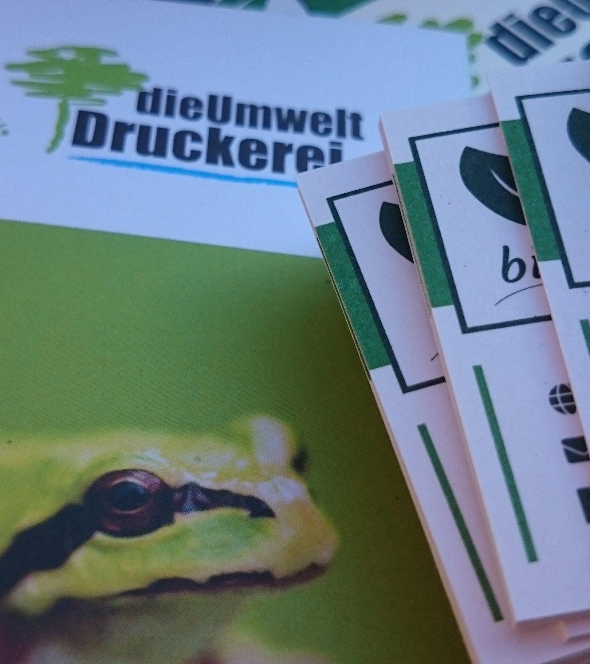Klimaneutrale Visitenkarten Aus 100 Recyclingpapier Und
