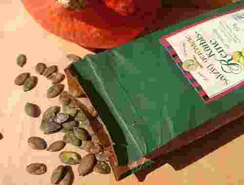 Kürbiskerne salzig geröstet mit Steinsalz 300g von Lebe Gesund Lebe Gesund Kürbiskerne dekorativ (2)