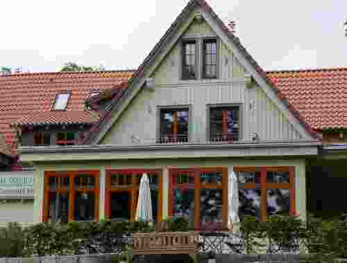 Plumbohms Aussichtsreich Gast und Logierhaus auf 493 Höhenmetern in Bad Harzburg Eingangsbereich Hotel Aussichtsreich