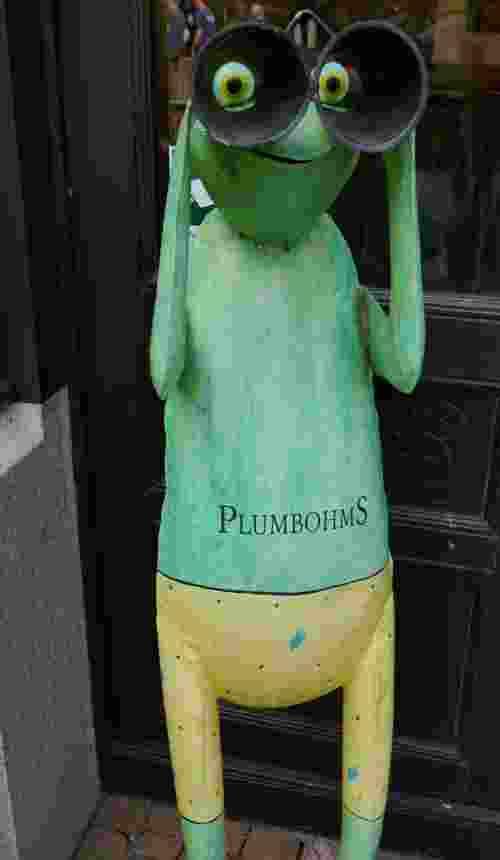 Plumbohms Aussichtsreich Gast und Logierhaus auf 493 Höhenmetern in Bad Harzburg Frosch Statue
