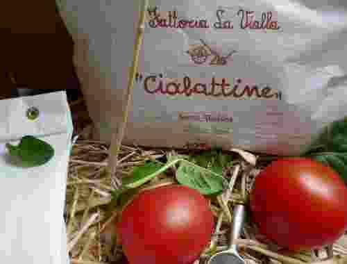 Glutenfreie Ciabattine, Knusprige Cracker von der Fattoria La Vialla-- Glutenfreie und vegane Ciabattine