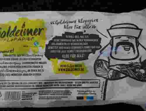 Goldeimer Klopapier für Groß und Klein, 100% Recycling, Inspired by Viva con Aqua--hippe Verpackung