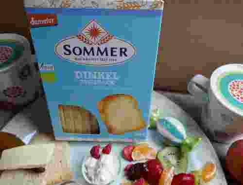 Veganer Dinkel-Zwieback - ungesüßt - mit Dinkelvollkornschrot von Sommer--ein Zwieback für alle Gelegenheiten