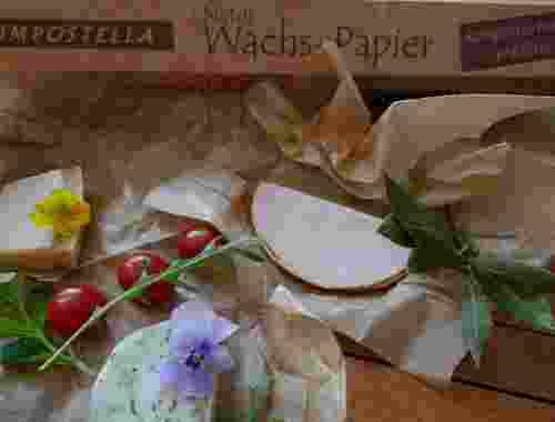 100% kompostierbares Natur Wachs-Papier - 8 m - von Compostella--Compostella Natur Wachs-Papier