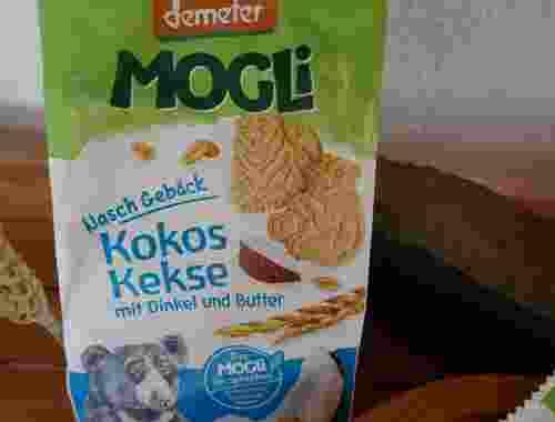 Demeter - Bio-Kokos-Kekse mit Dinkel und Butter, Naschgebäck von Mogli--Kokos-Kekse von Mogli