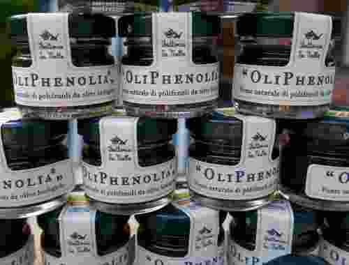 OliPhenolia mit Traubensaft oder OliPhenolia bitter, Nahrungsergänzungsmittel der Fattoria La Vialla--16 Einheiten á 2 Gläser