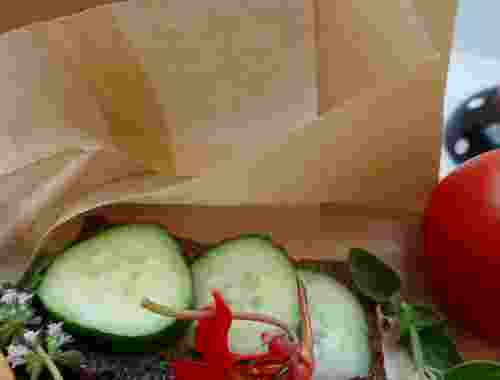 Kompostierbare Frühstückstütchen, 1für4, 20 Stück von Compostella --